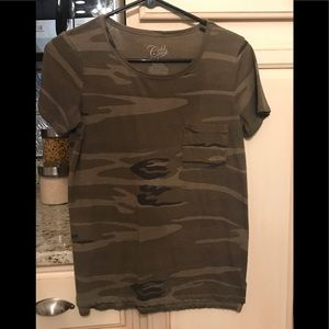 Boutique camouflage shirt. Size small.
